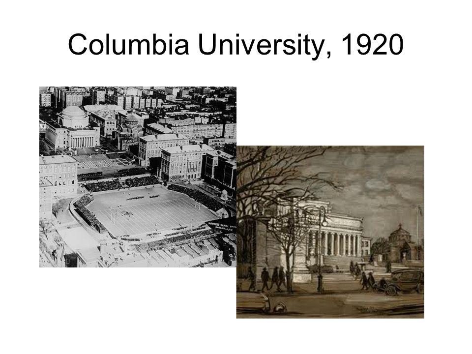 Columbia University, 1920