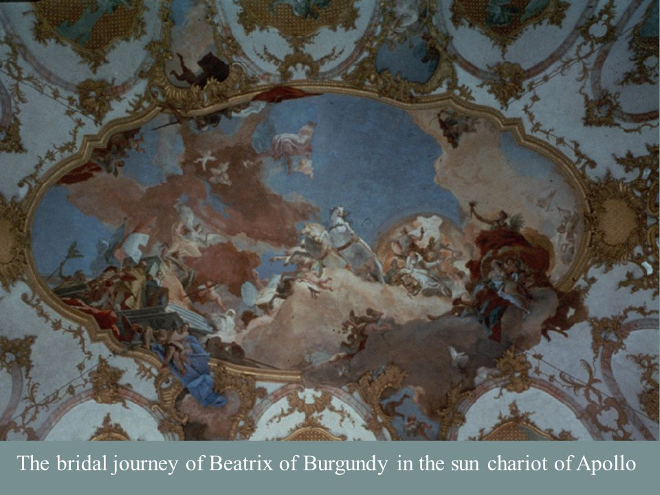 The bridal journey of Beatrix of Burgundy in the sun chariot of Apollo