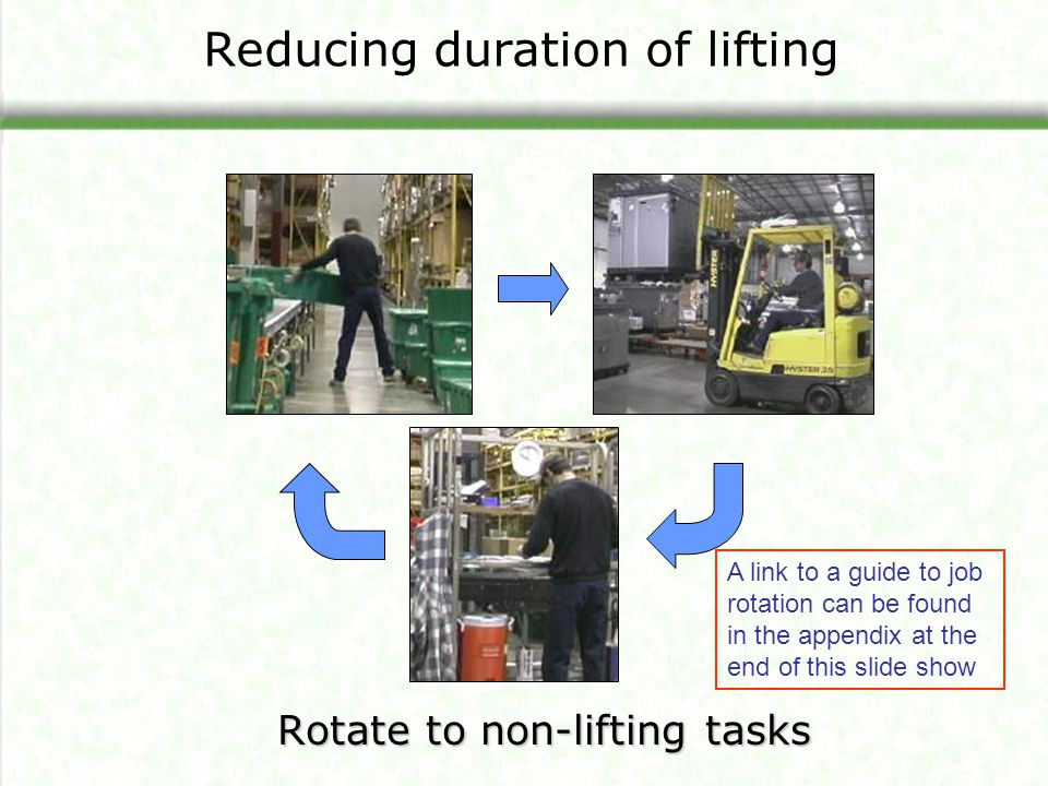 Reducing duration of lifting
