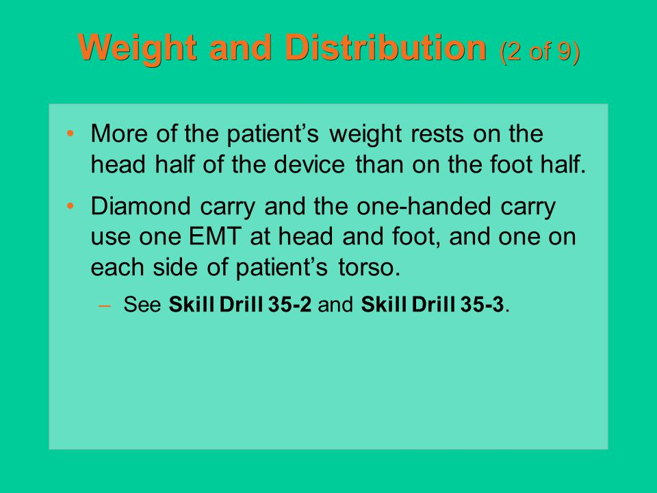 Weight and Distribution (2 of 9)