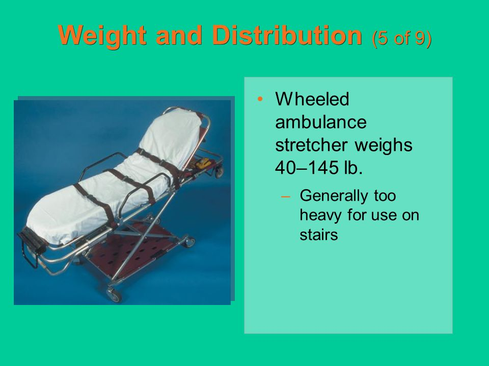Weight and Distribution (5 of 9)