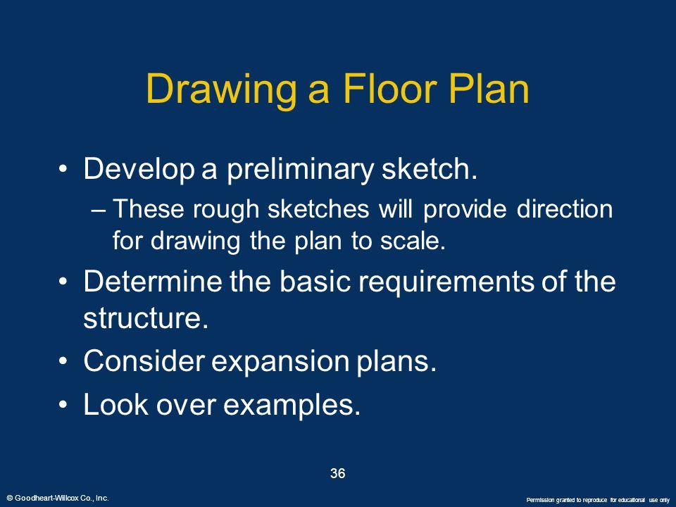Drawing a Floor Plan Develop a preliminary sketch.