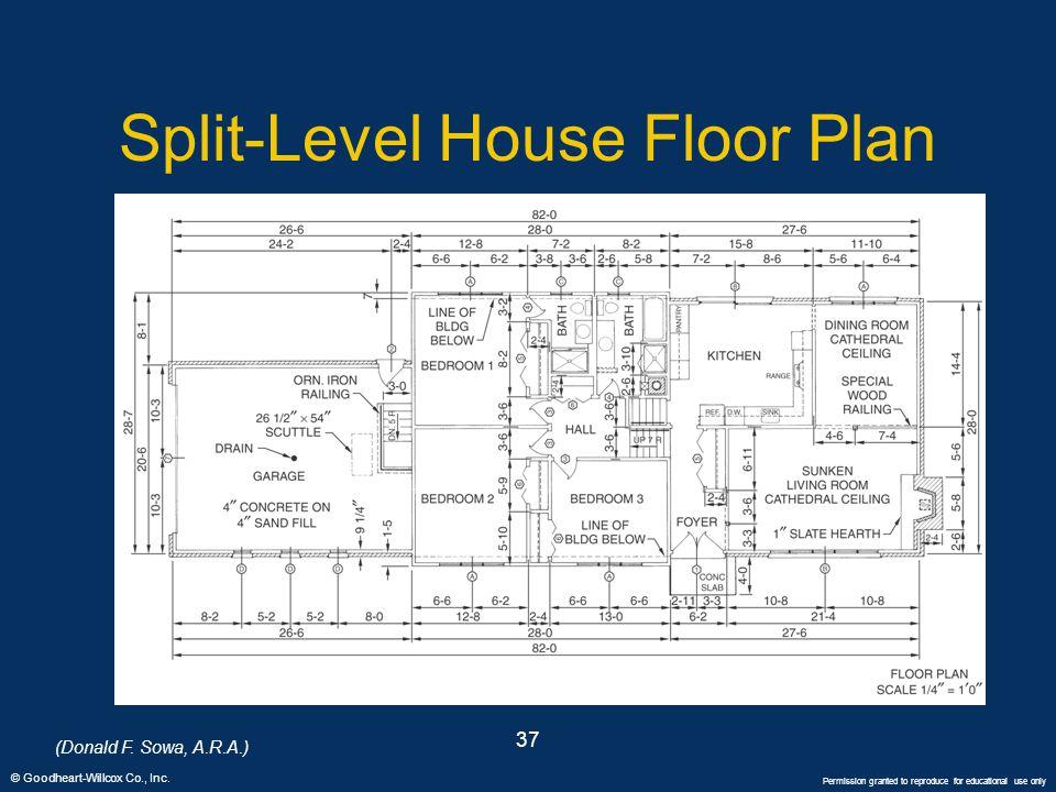 Split-Level House Floor Plan