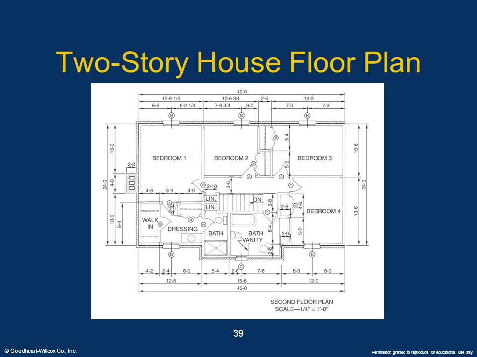 Two-Story House Floor Plan