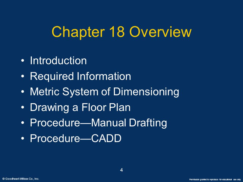 Chapter 18 Overview Introduction Required Information