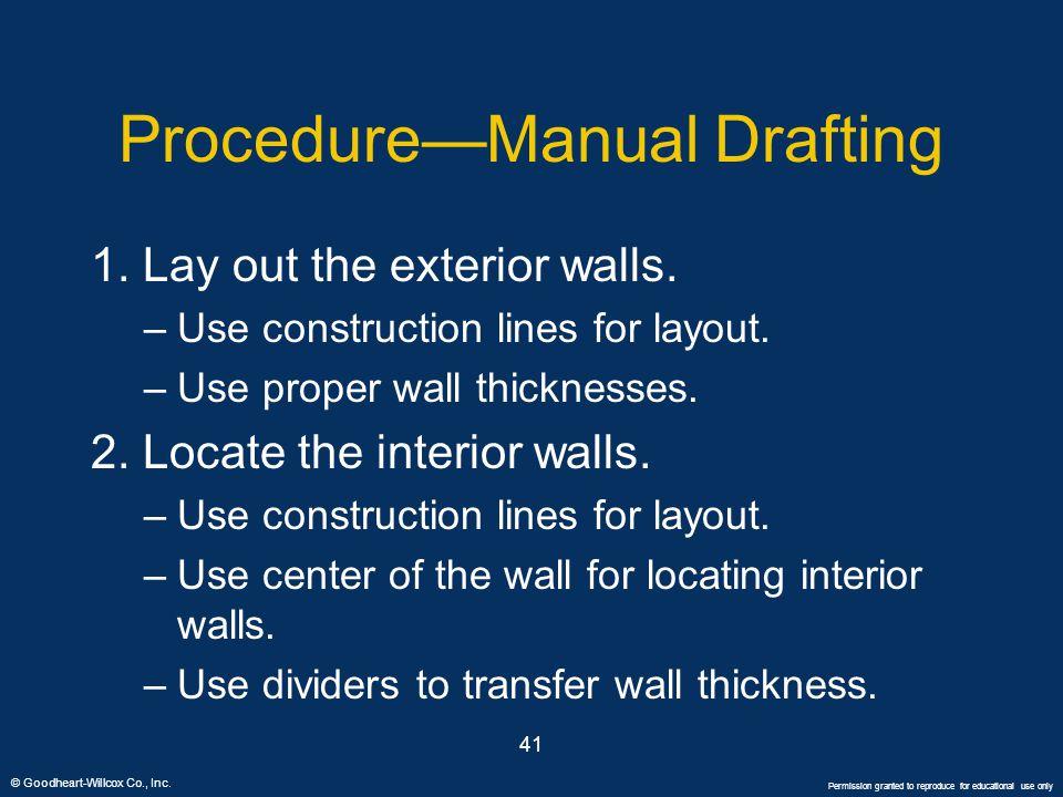 Procedure—Manual Drafting