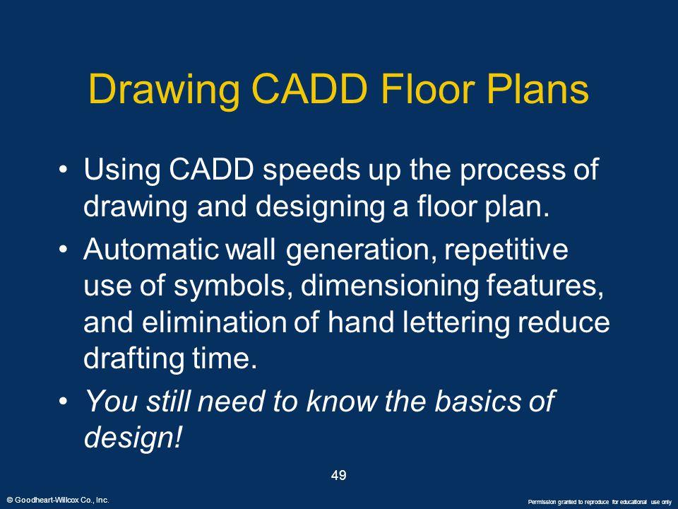 Drawing CADD Floor Plans