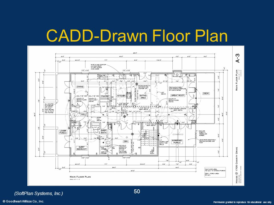 CADD-Drawn Floor Plan 50 (SoftPlan Systems, Inc.)
