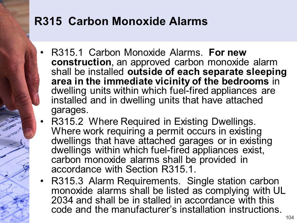 R315 Carbon Monoxide Alarms