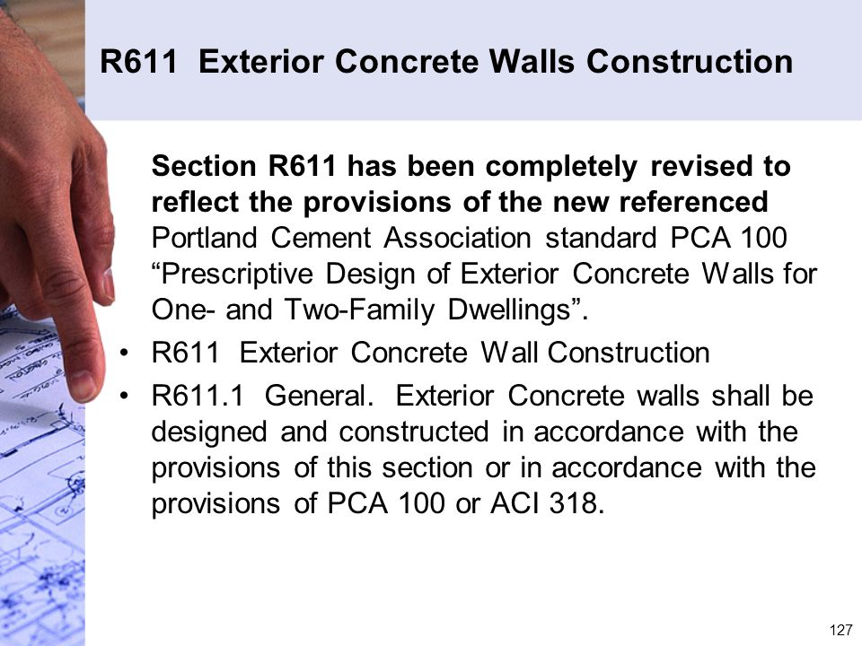 R611 Exterior Concrete Walls Construction