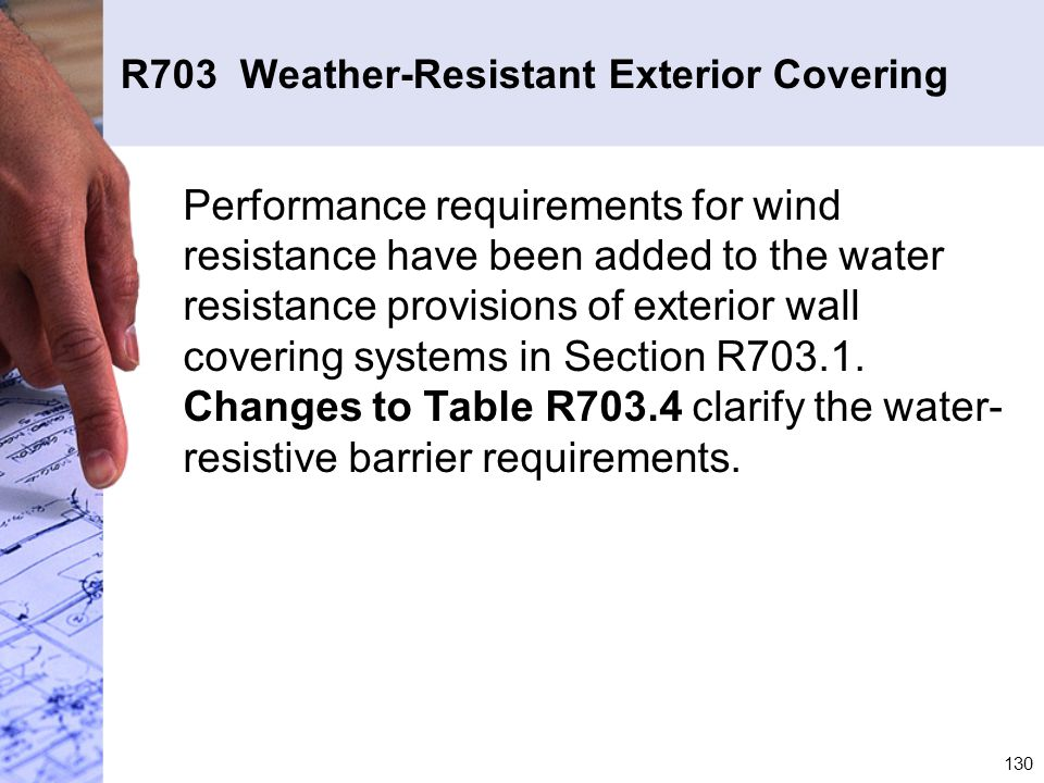 R703 Weather-Resistant Exterior Covering
