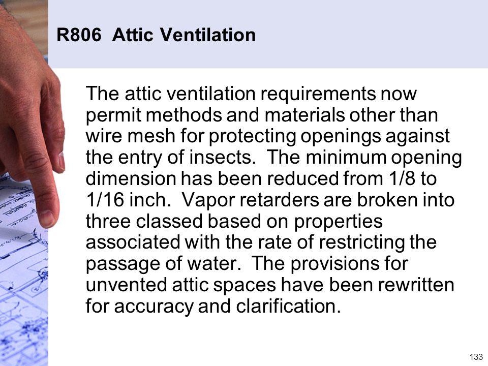 R806 Attic Ventilation