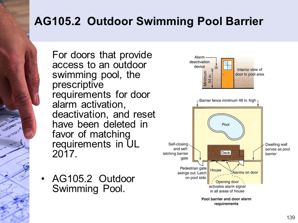 AG105.2 Outdoor Swimming Pool Barrier