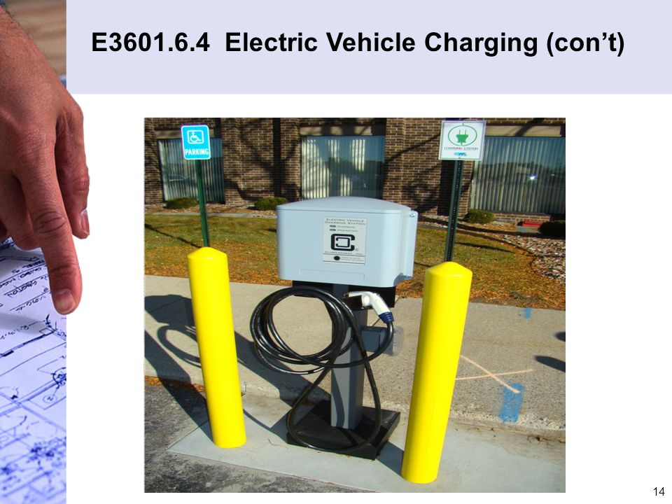 E3601.6.4 Electric Vehicle Charging (con't)
