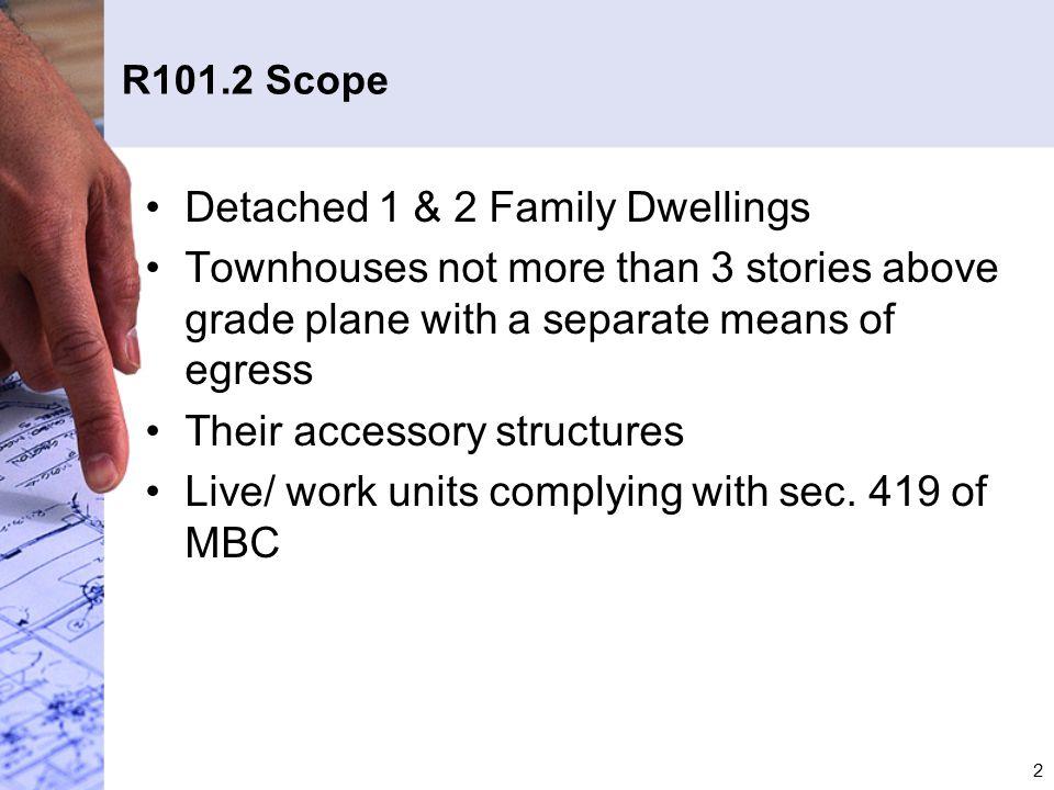 Detached 1 & 2 Family Dwellings