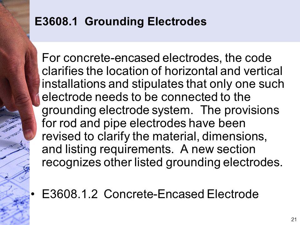 E3608.1 Grounding Electrodes