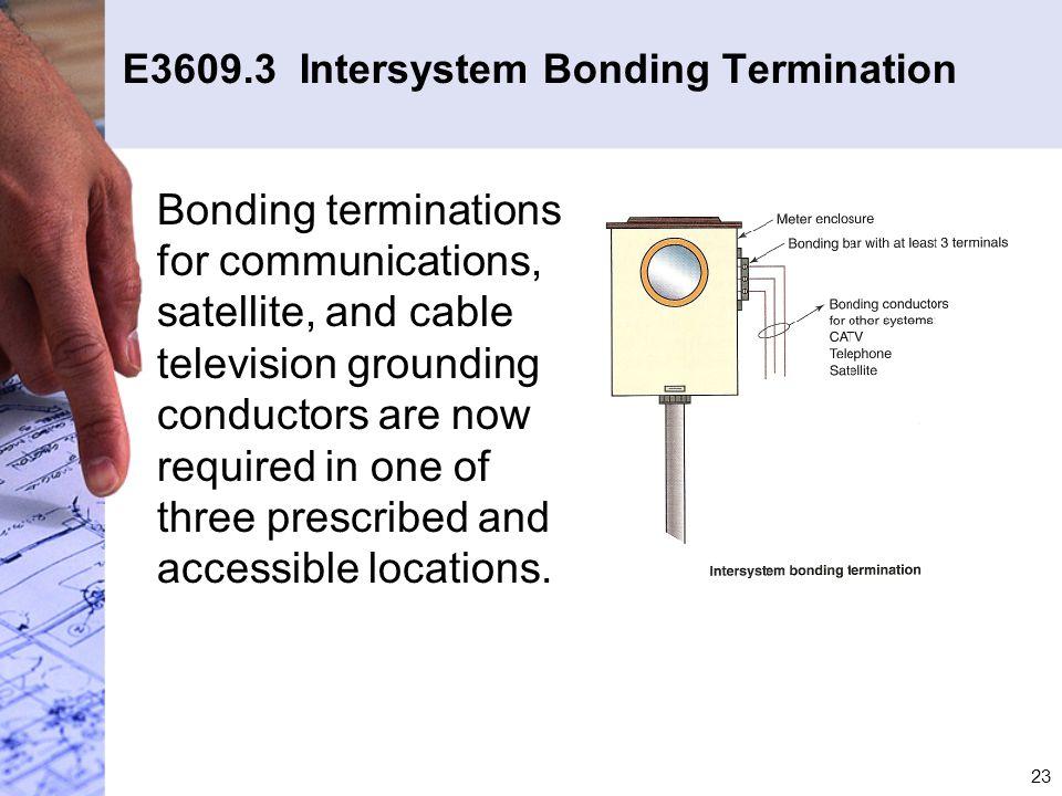 E3609.3 Intersystem Bonding Termination