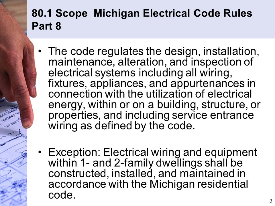 Awesome Michigan Residential Electrical Code Ensign - Everything You ...