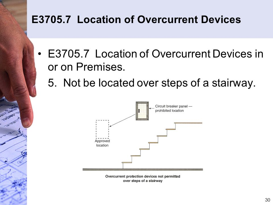 E3705.7 Location of Overcurrent Devices