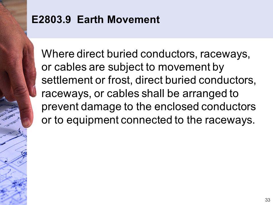 E2803.9 Earth Movement