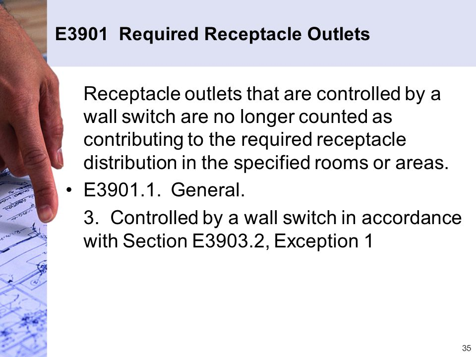 E3901 Required Receptacle Outlets