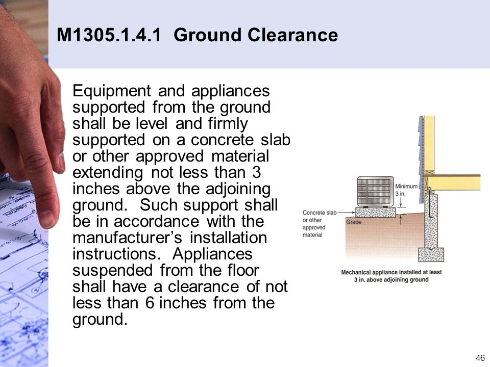 M1305.1.4.1 Ground Clearance