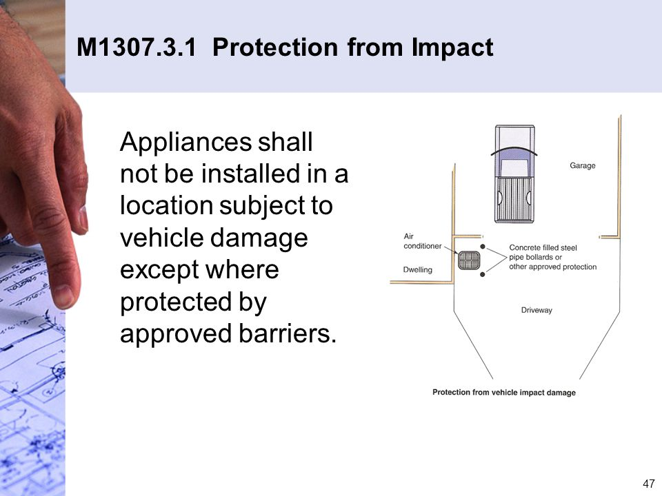 M1307.3.1 Protection from Impact