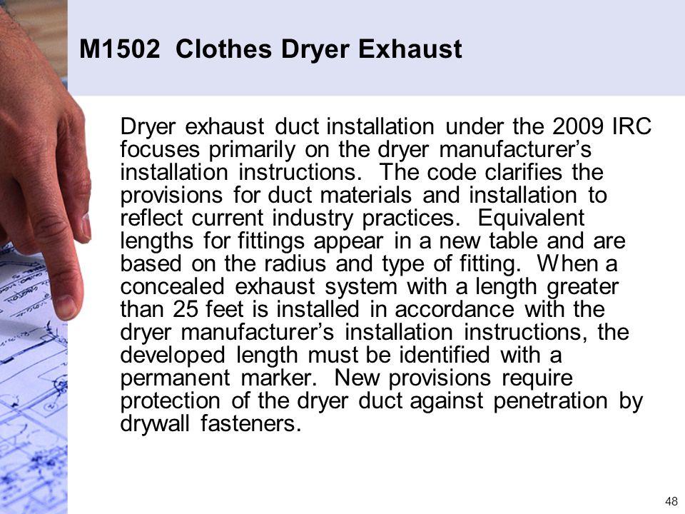 M1502 Clothes Dryer Exhaust