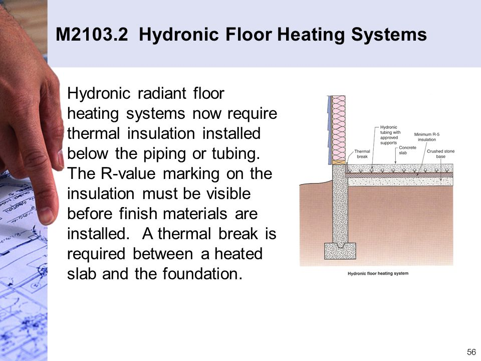 M2103.2 Hydronic Floor Heating Systems