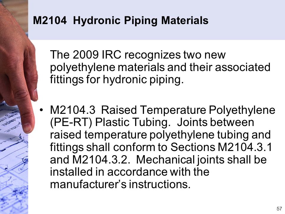 M2104 Hydronic Piping Materials