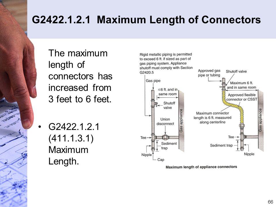 G2422.1.2.1 Maximum Length of Connectors