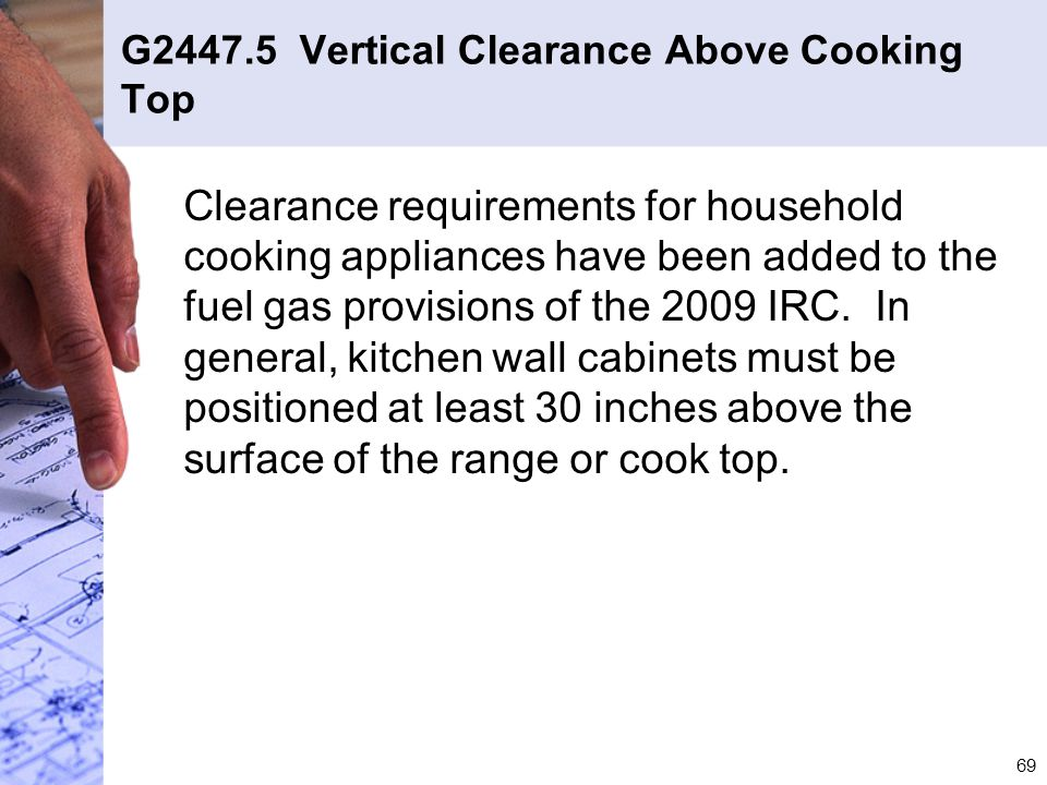G2447.5 Vertical Clearance Above Cooking Top