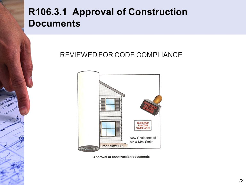R106.3.1 Approval of Construction Documents