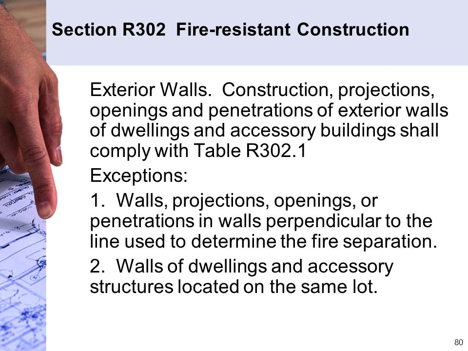 Section R302 Fire-resistant Construction