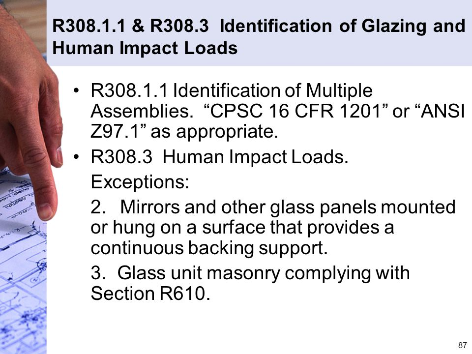 3. Glass unit masonry complying with Section R610.
