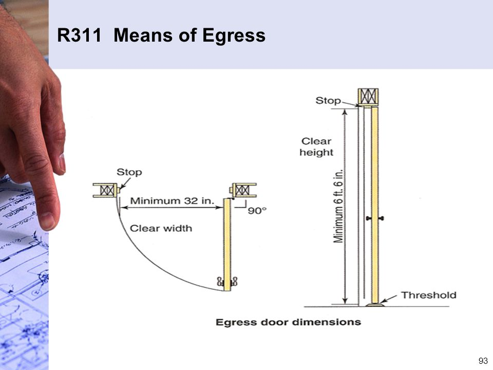 R311 Means of Egress