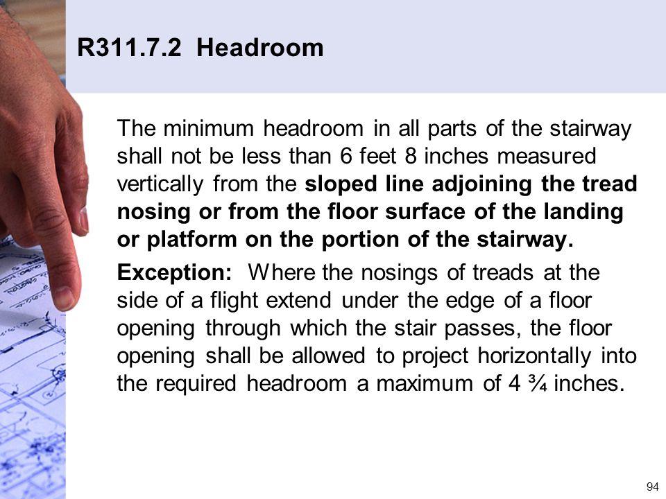 R311.7.2 Headroom
