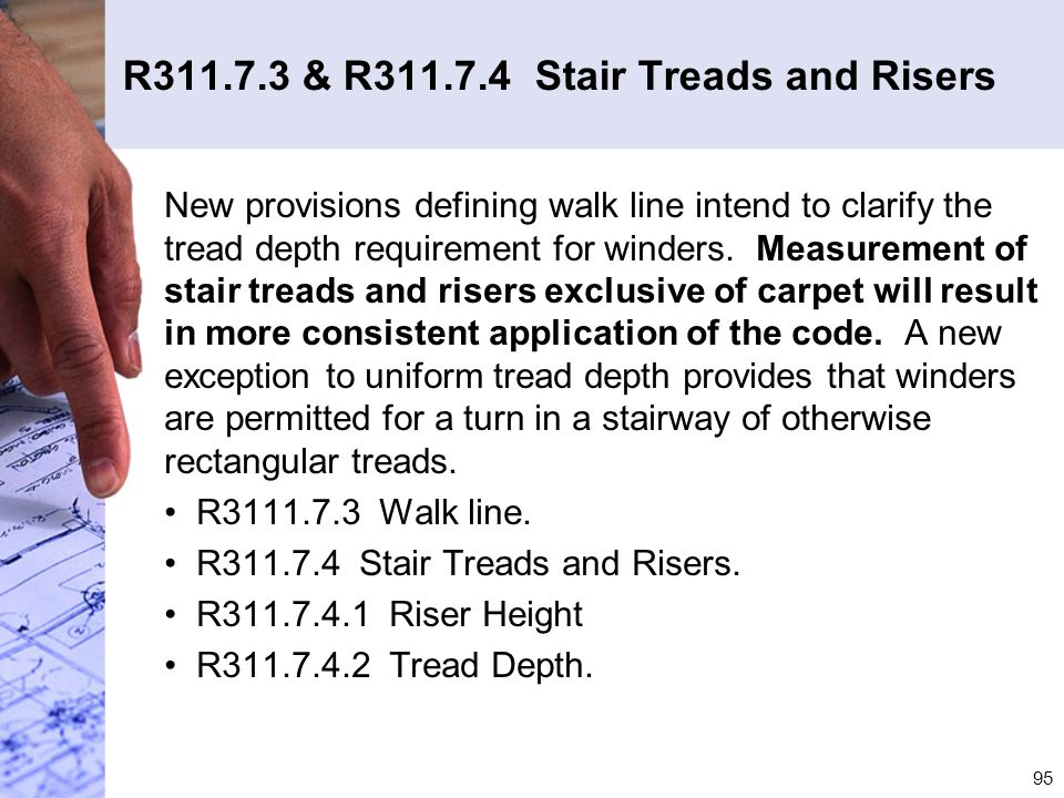 R311.7.3 & R311.7.4 Stair Treads and Risers