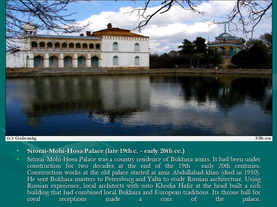 Sitorai-Mohi-Hosa Palace (late 19th c. - early 20th cc.)