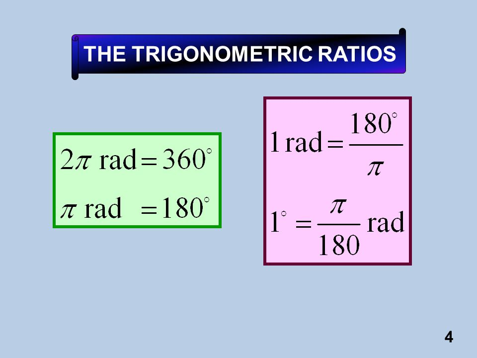 THE TRIGONOMETRIC RATIOS
