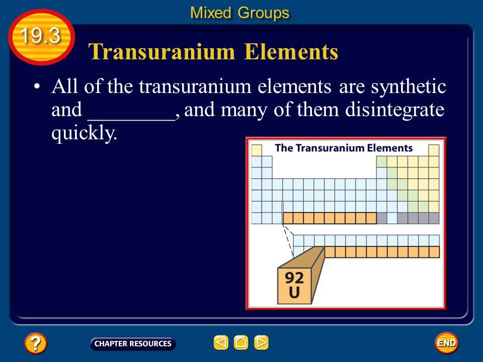 Transuranium Elements