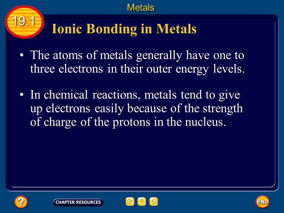 Ionic Bonding in Metals