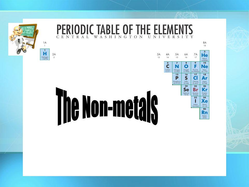 The Non-metals