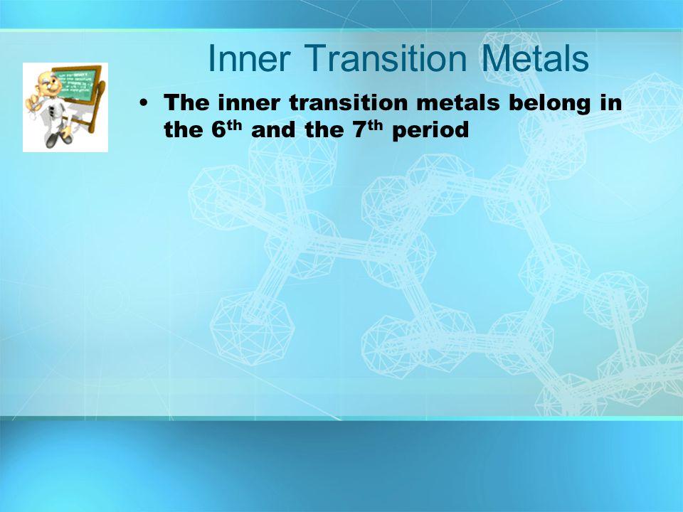 Inner Transition Metals