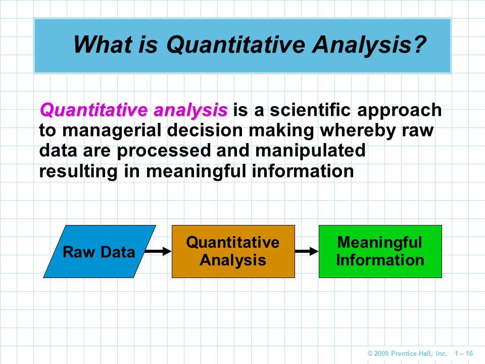 What is Quantitative Analysis