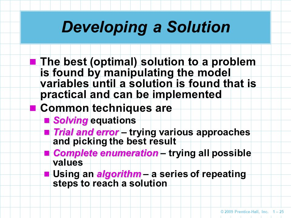 Developing a Solution