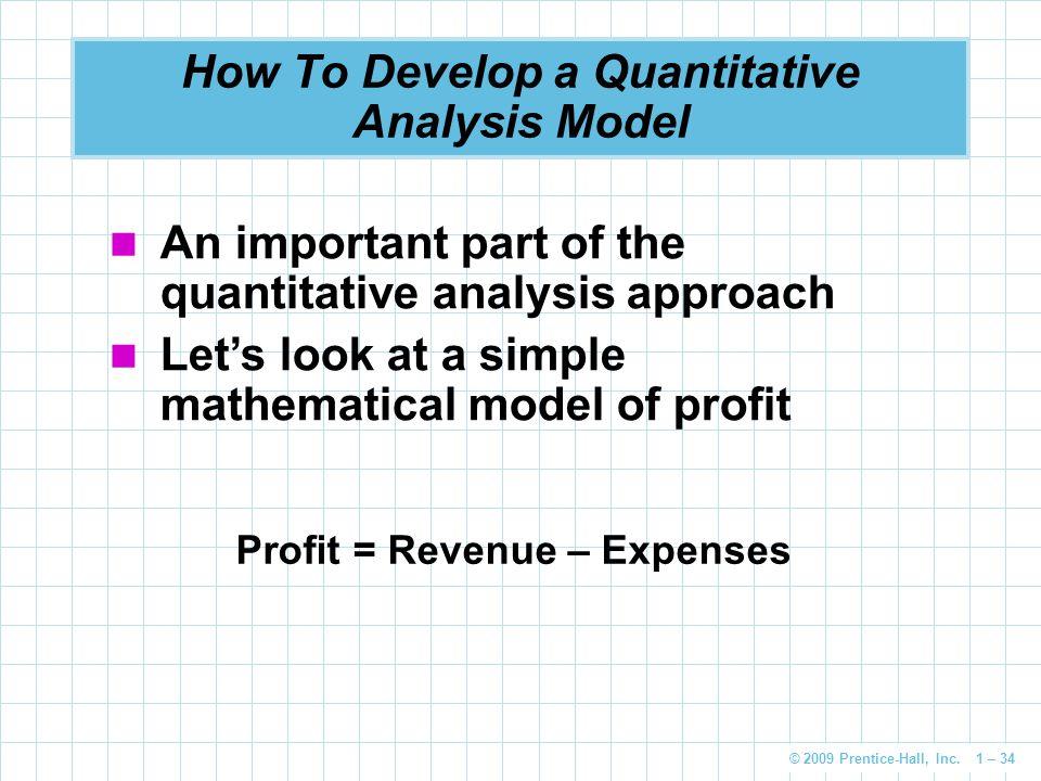 How To Develop a Quantitative Analysis Model