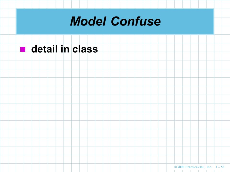 Model Confuse detail in class