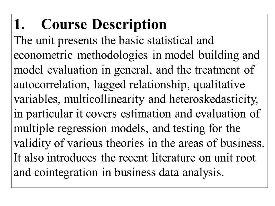 1. Course Description