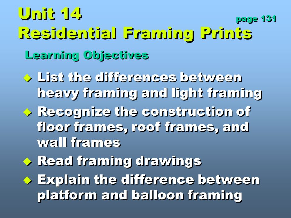 Unit 14 Residential Framing Prints